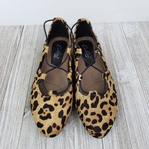 f5424d4017e4 Earthies Shoes | New Essen Ghillie Leopard Ballet Flats | Poshmark